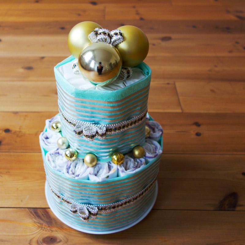 diaper cake@ baby shower・おむつケーキ@ベイビーシャワー