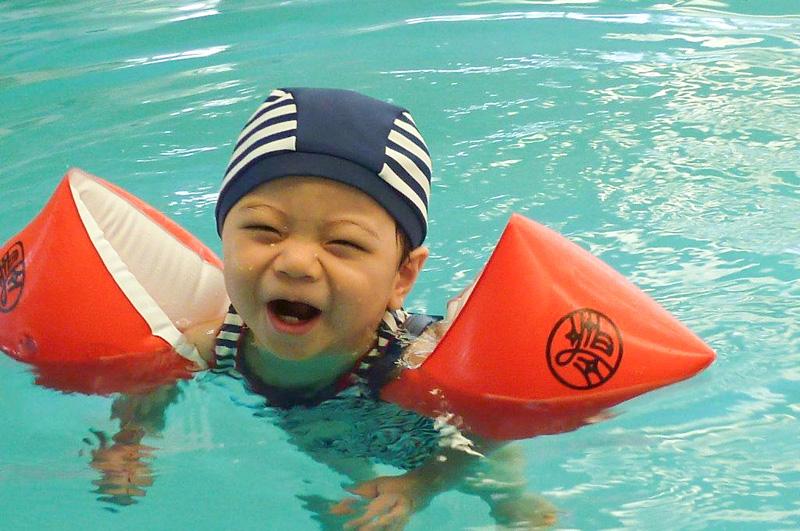 Swimming Arm Band customised with NAMON・お名紋つきスイミングヘルパー