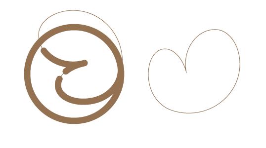 hidden heart in the logo・ここからここと。さんのハート。
