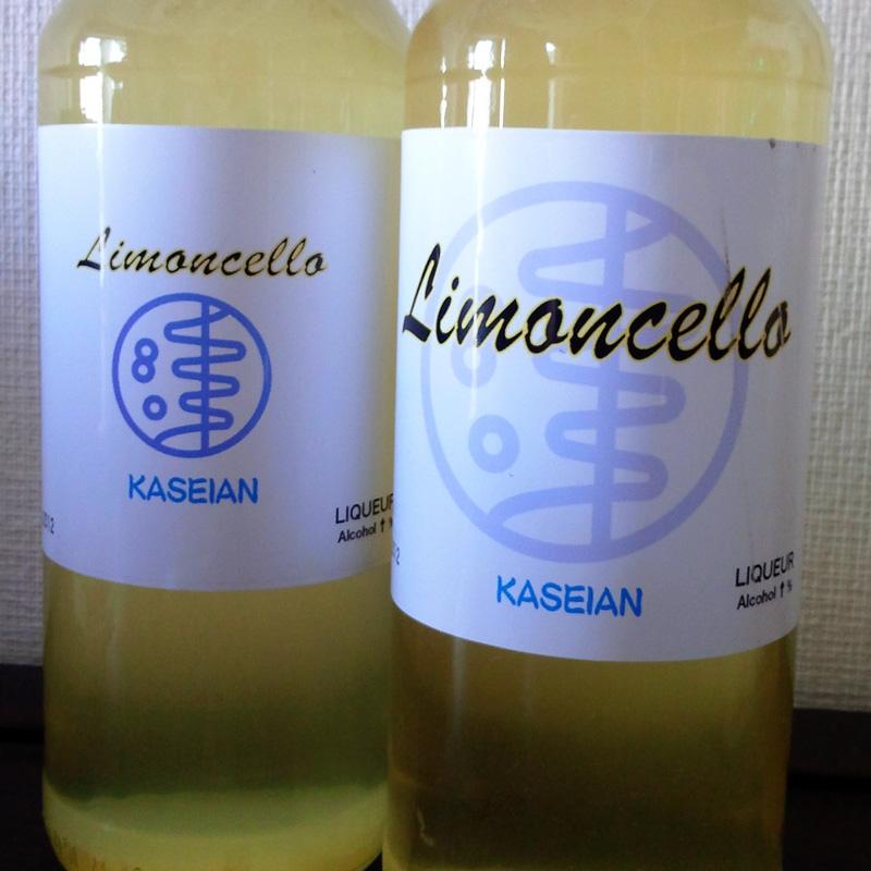 original label for Limoncello・リモンチェッロオリジナルラベル