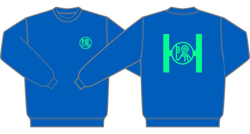 Custom Sweatshirts・オリジナルトレーナー(カッティングラバー・ネオングリーン)