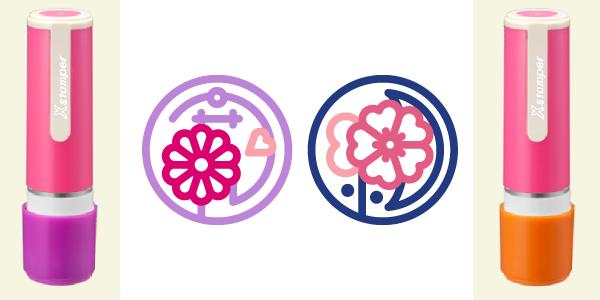 pair design, customised Shachihata・着せ替えネーム9