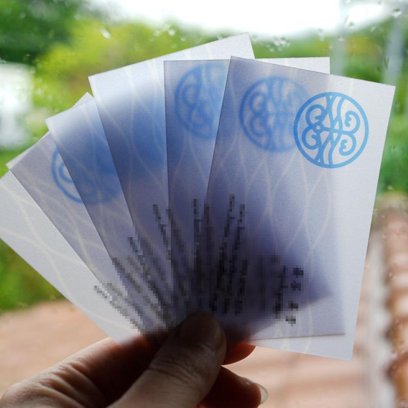 Business Card・トレーシングペーパー名刺