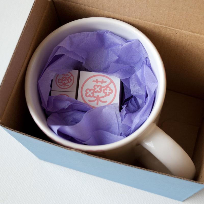 Custom Mug & Rubber Stamp Set・マグ&ゴムスタンプギフトセット