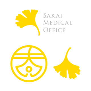 クリニックのロゴの銀杏イラストと太郎紋