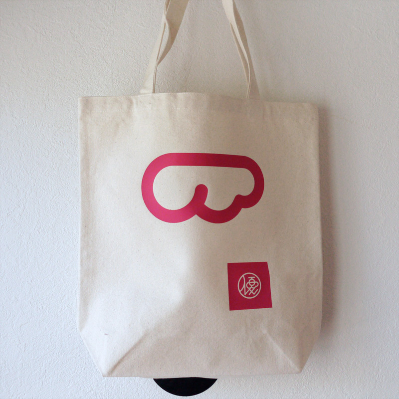 Tote Bag with Rubber Print・カッティングラバープリント・トートバッグ