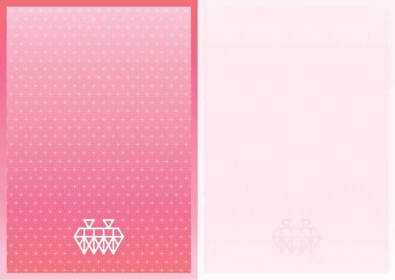 Personalized Notepads Design・オリジナル便箋(レターセット)デザインイメージ