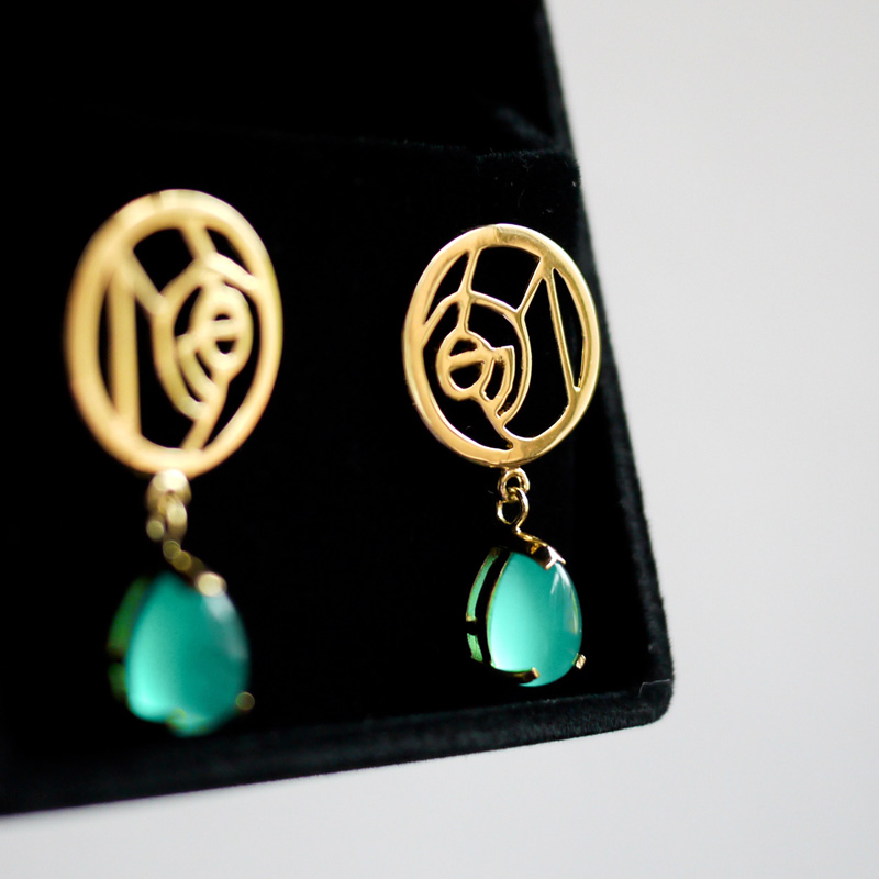 hand made earrings・ハンドメイドピアス(金)