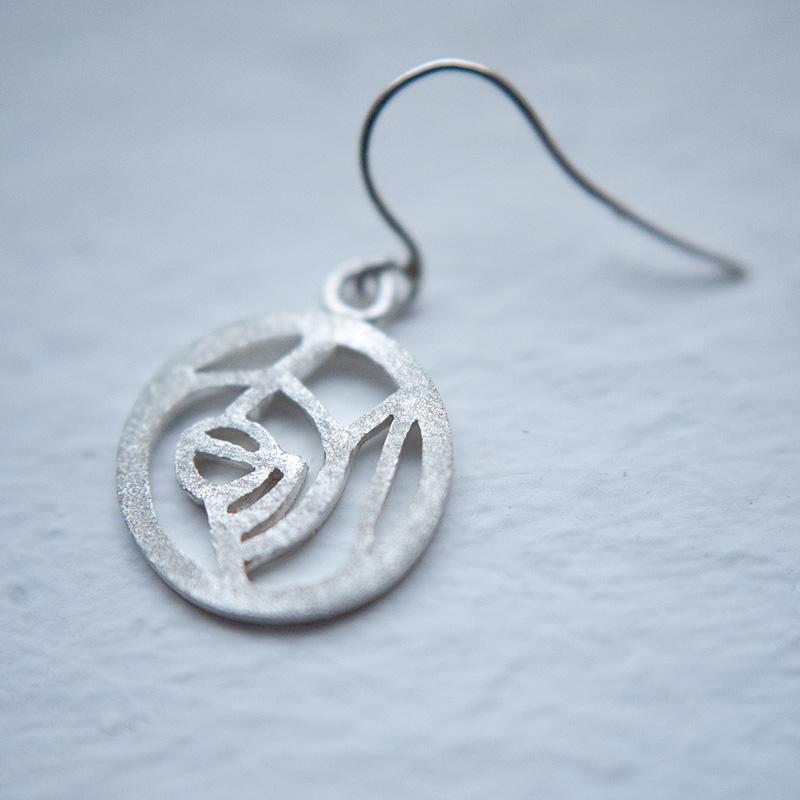 hand made silver earring・ハンドメイドピアス(シルバー)