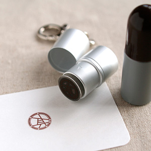 デジはんキーホルダー浸透印(12mm)