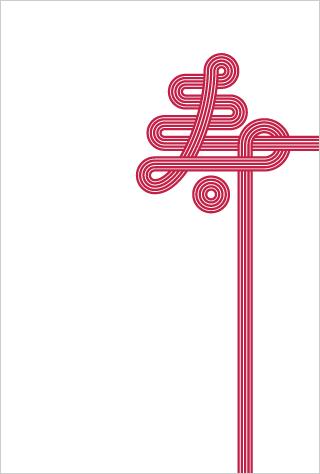 年賀状フリー素材2015年・寿紋・ハガキテンプレート(PDF)・水引デザイン